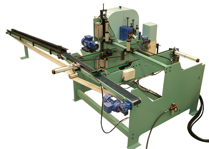 Loader and sander for F14CN milling and sanding line