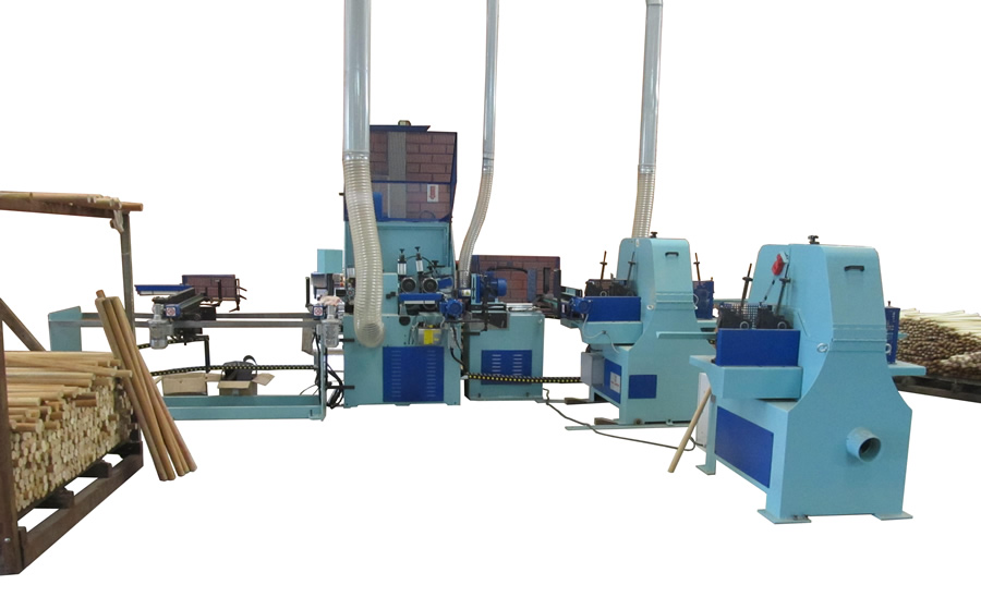 Automatic line customized for the LTS CN milling and sanding line