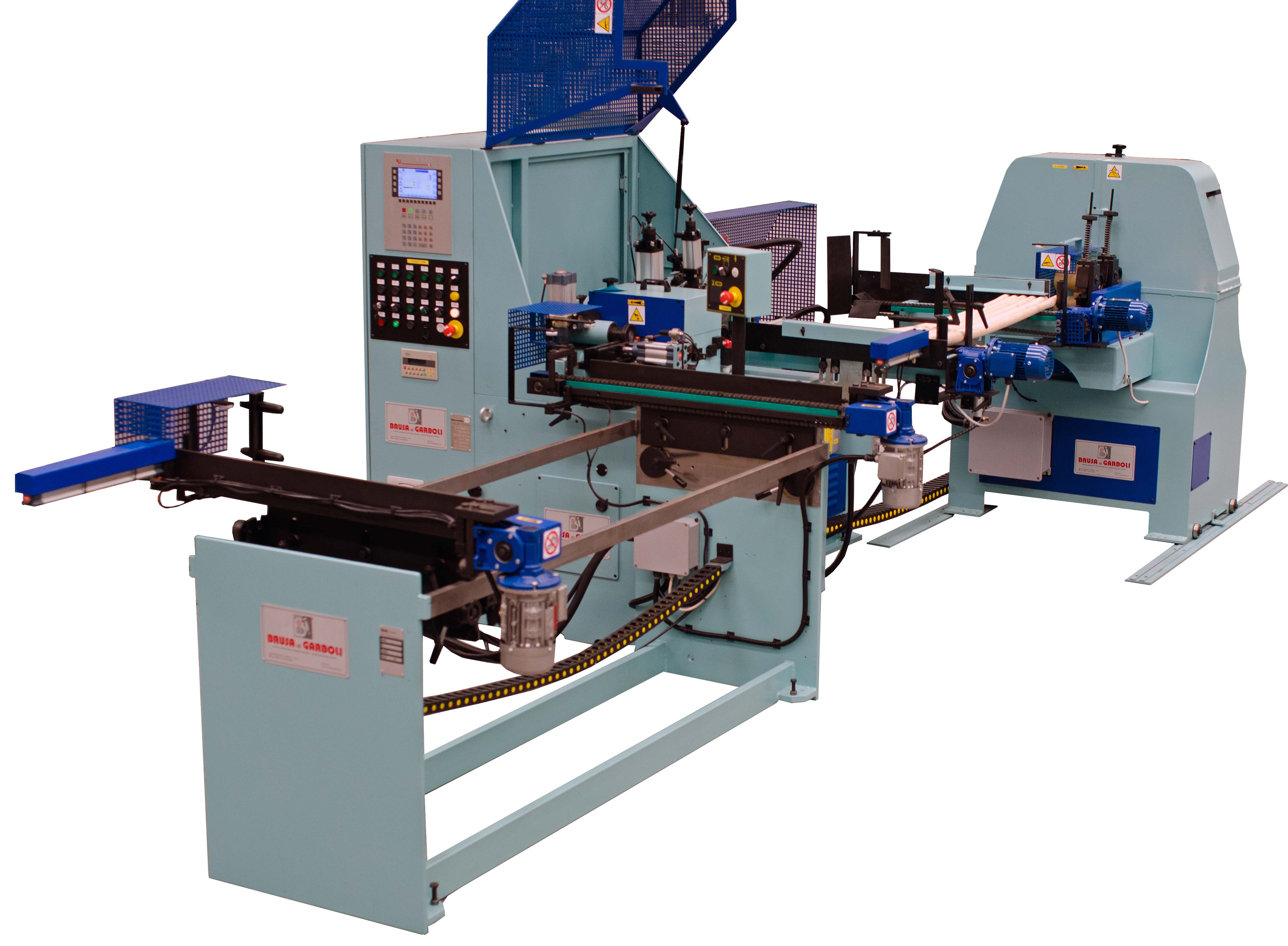 CN milling  and  sanding line for  the  production of wooden shaped components – Line LTS CN