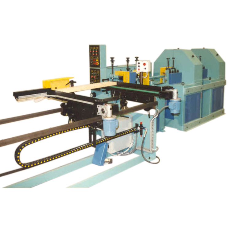 Milling and  sanding line for production of  shaped handles – Line LTS