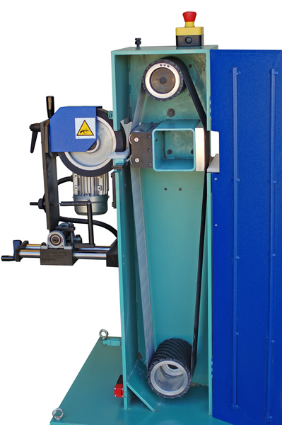 Open machinery centerless sander for round rods – TRIS