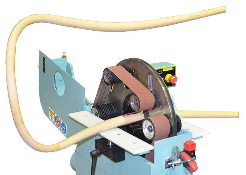 Orbital sanding system of the Orbital wood sanding machine for bent and straight rods – LPC 300