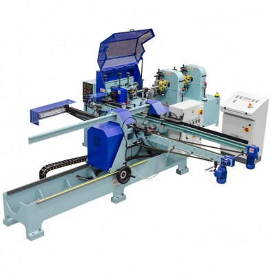Doweling and  sanding  line for  round rods production – Line LTV