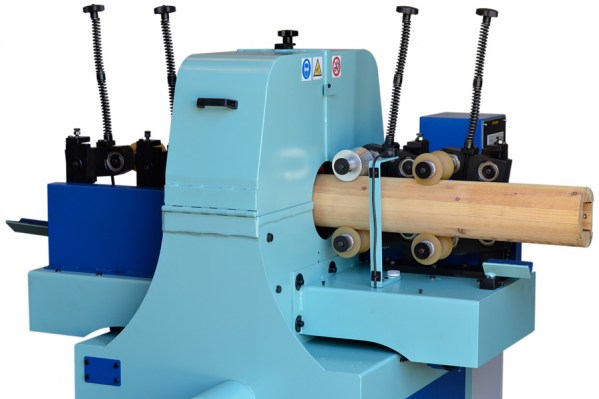 Sanding process of belt sander for taper wood poles – LT 20