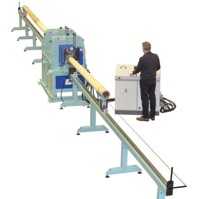 Line for wood  taper poles sanding – LT 200 S