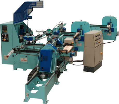 lts cn line with double sander CN milling and sanding line for the production of wooden shaped compone