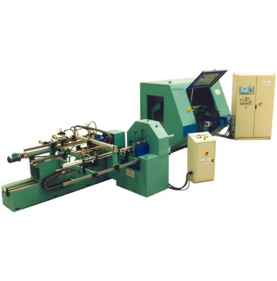 Milling and sanding line for wood handles production