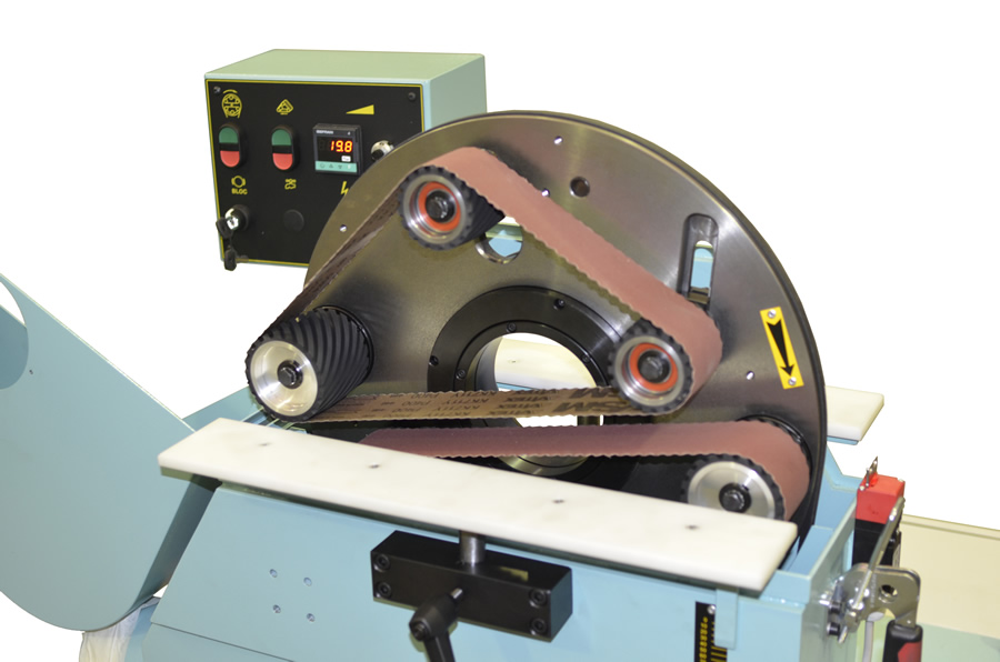 Sander disc of the orbital wood sanding machine for bent and straight rods – LPC 300