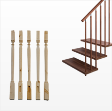 Machines for wood stair spindles manufacturing